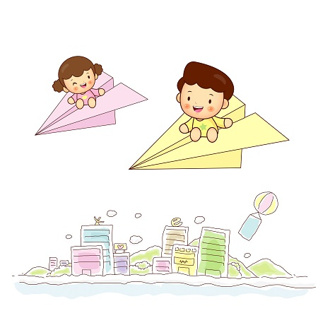 Paper airplane kids travel